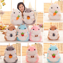 [5 Color 38cm/55cm ] Lovely snack hamster plush dolls plush toys simulation hamster children Birthday girls holiday Toys