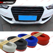 2.5M/Roll 6.5cm Width Rubber Lip Skirt Protector Car Scratch Resistant Rubber Bumpers Car Decoration Styling strip blue white