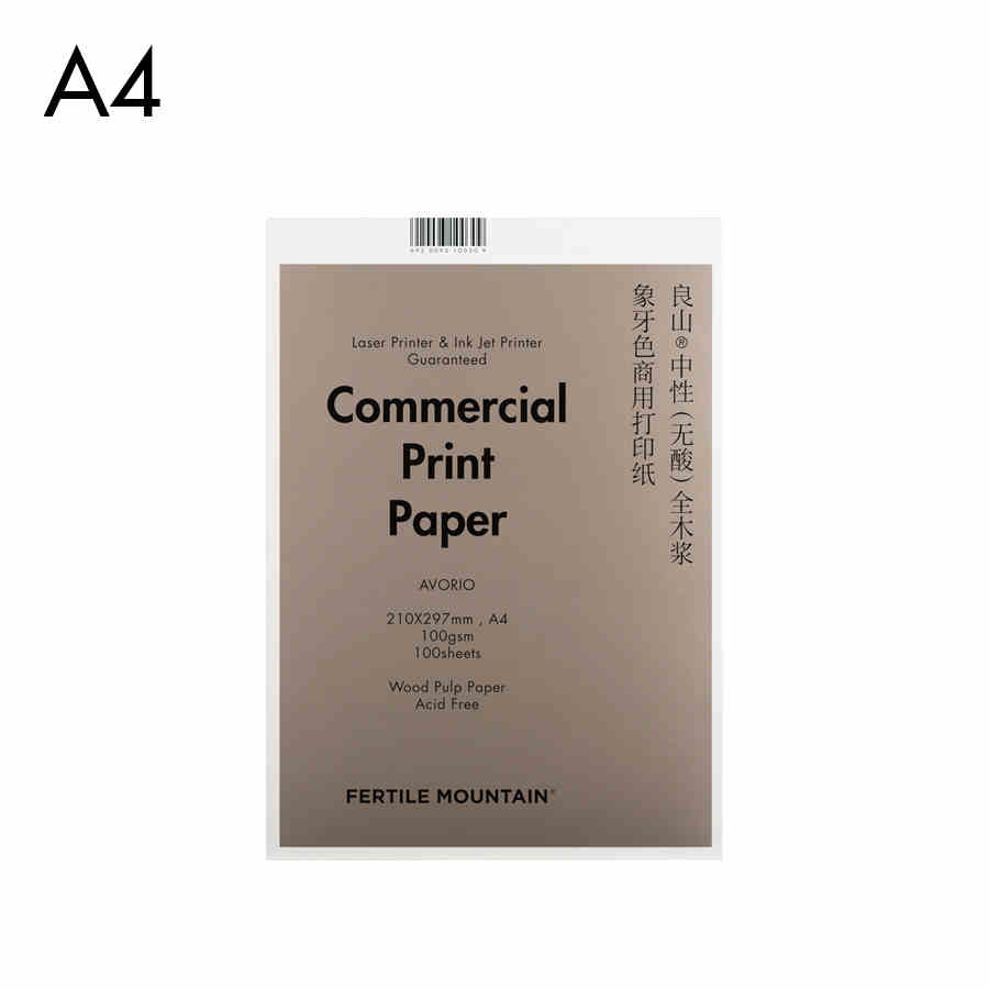 100 Sheets100g A4 Ivory Color Printer Paper Neutral All 100% Nature Wood Pulp Made Luxury handle official business Copy Paper<br>