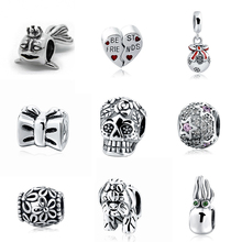 New arrial pandora Various Beads Fit Authentic charm Bracelets Silver 925 Original Pendant Charms Antique Beads Jewelry Gifts(China)
