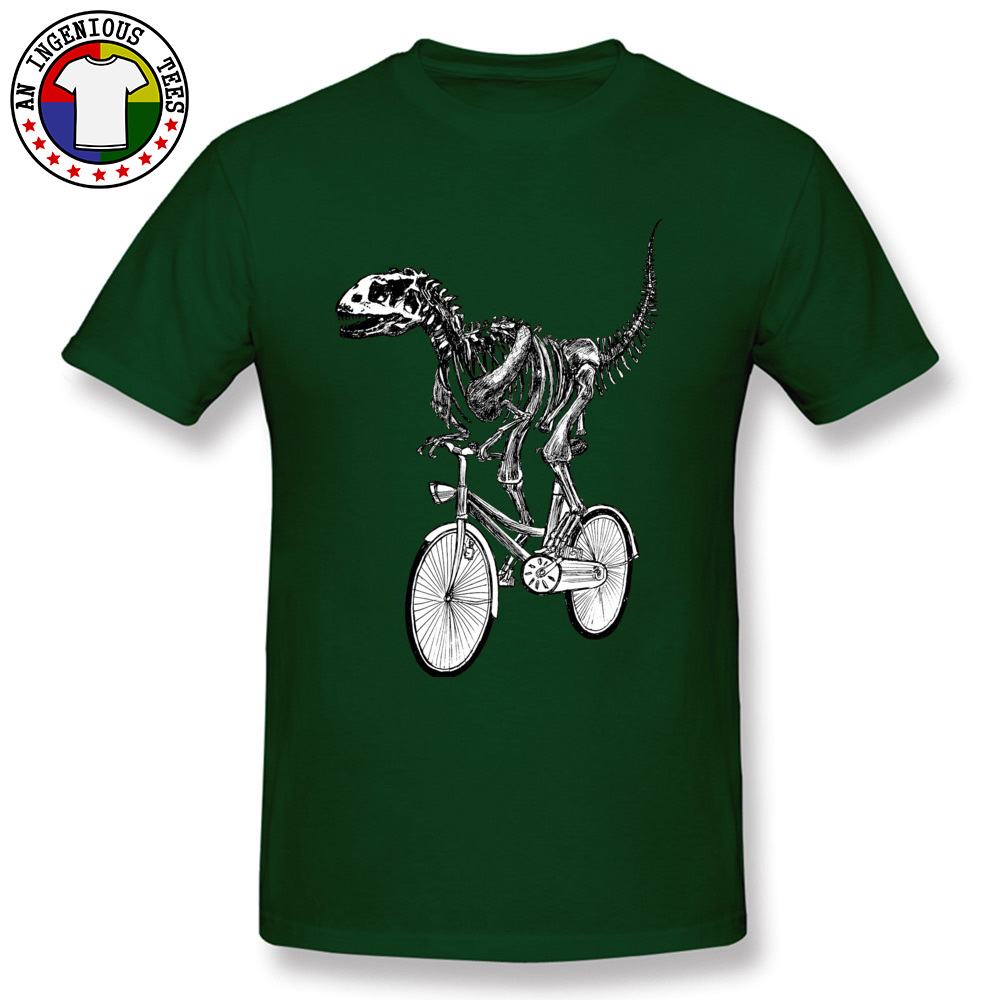 Short Sleeve Tops Shirts O Neck Cotton Men's Top T-shirts Skeleton-Fossil-Bike Normal Tops Shirts 2018 Popular Skeleton-Fossil-Bike dark