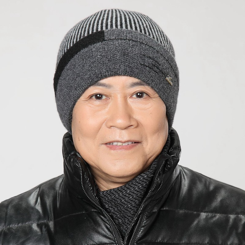 The elderly wool yarn hat male winter old-age male winter knitted hat cap ear protector new year fathers gift wool brand beanieОдежда и ак�е��уары<br><br><br>Aliexpress