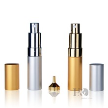 15ml Gold&Silver Spray Empty Perfume Atomizer perfume bottle Bottles Perfume Vaporizador With Funnel(China)