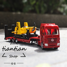 siku Benz Decoration kids toys 1:87 Metal alloy car model Truck series trailer Drag the plane Children like the gift
