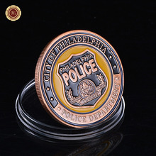 U.S. Philadelphia Police Department Souvenir Coin Amazing Custom Coin Wholesale Guard Commemorative Coin(China)