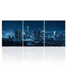 HD Printed Wall Art City View Canvas Print LED Light Wall Picture for Home and Hotel Decoration No Frame for DIY/SJMT1983(China)