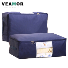 [VEAMOR] Quilt Storage Bags Oxford Luggage Bags S-XXL Home Storage Organizer Waterproof Wardrobe Clothes Storing Storage Bags