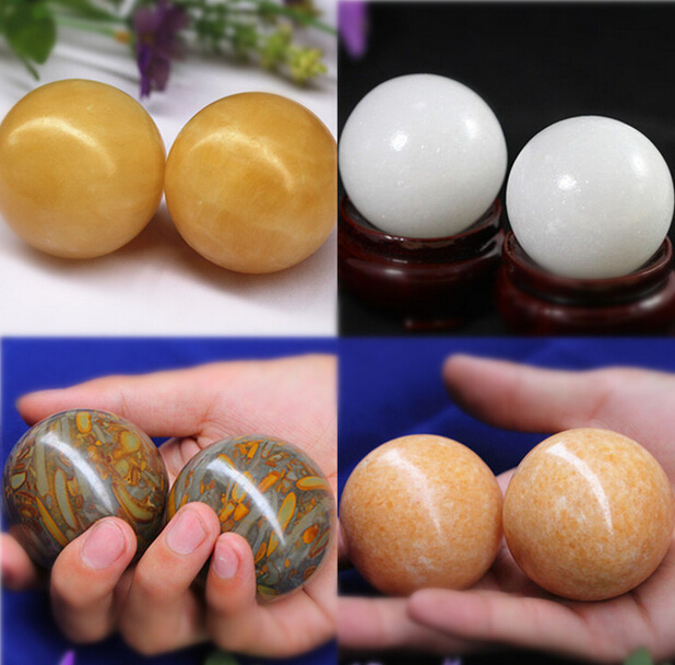 best gift for father 50-55mm health marble stone palm massage ball<br><br>Aliexpress