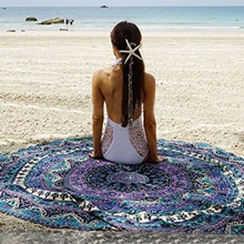 Summer Europe wind changing color new beach towel print With Tassel Circle Beach Towel  fashion large Round decorative  towel