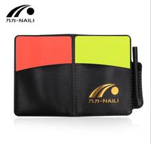 Football Referees Cards sets Soccer coach Professional Equipment with Plastic Wallet Scorebook Pencil Wholesale
