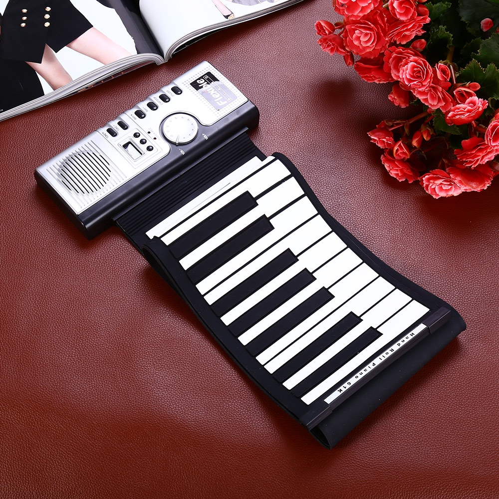 Portable 61 Keys Roll-up Keyboard Flexible 61 Keys Silicone MIDI Digital Soft Keyboard Piano Flexible Electronic Roll Up Piano (10)