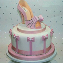 9pcs/set Plastic Sandal Fondant Mold Lady High-Heeled Shoe Cake Baking Mould