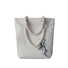 NEW arrived Cute Cotton animal pattern Canvas Handbags Eco Daily Female Single Shoulder Shopping Tote white Women Beach Bags(China)