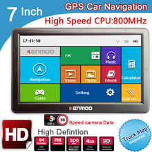 New 7 inch HD Car GPS Navigation 800M/FM/8GB/DDR3 2016 Maps For Russia/Belarus/  Europe/USA+Canada TRUCK Navi Camper Caravan