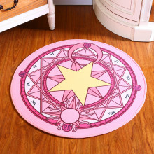 1Pcs Absorbent Non-slip Round Cartoon Cute Sakura Magic circle Children room Carpet Computer swivel chair hanging basket mat
