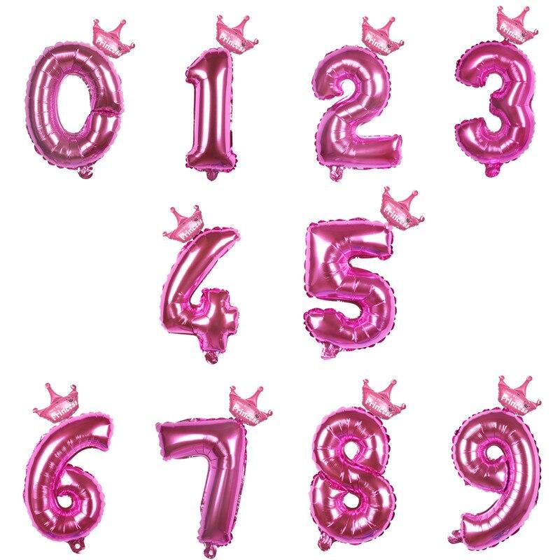 XXYYZZ 32Inch Figure Foil Balloons 1 2 3 4 5 6 7 8 9 Years Old Kid Boys Girls Newborn Birthday Balloon Baby Shower Decoration