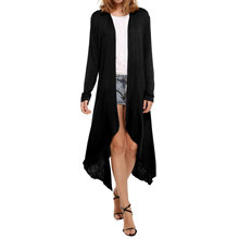 2016 Abrigos Mujer Trench Coat For Women Factory Direct Sales European Hot New Dustcoat Amazon Explosion Of A Long Cardigan
