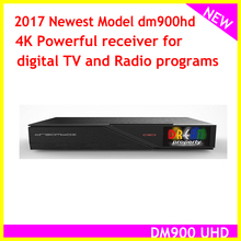 2017 NEWEST DM900 HD with twin DVB-S2 Tuner DM 900 UHD 4K E2 Linux TV Receiver 2160p PVR Satellite Receiver Tv Box(China)