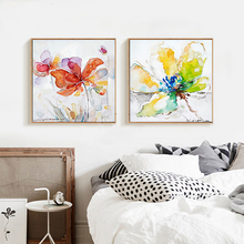 2016 Crab Lobster Water Colour Animal Wall Art Handmade Oil Painting Canvas Big Size Home Lliving Room Bedroom Decoration(China)