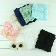 width 12 cm Cotton  lace fabric diy hair accessories material lace trim /ribbon black pink white mint green navy blue ivory Y01