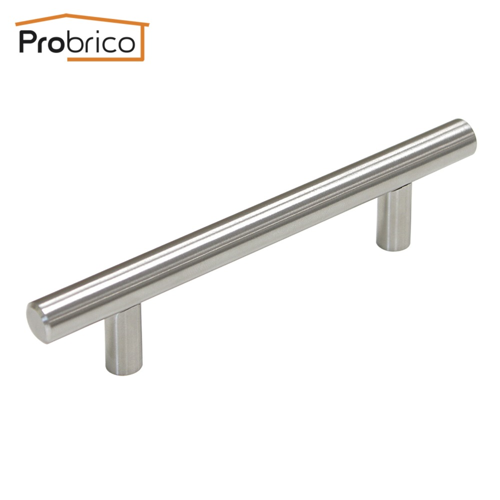 Probrico Kitchen Cabinet T Bar Handle PD201HSS96 Stainless Steel Diameter 12mm Hole to Hole 96mm 3.8 Furniture Drawer Knob<br><br>Aliexpress