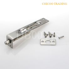 6 Inch L type 304 Stainless steel Latch Lever Action Flush Slide Door Lock Bolt 25mm wide doorbolt--US32D(China)