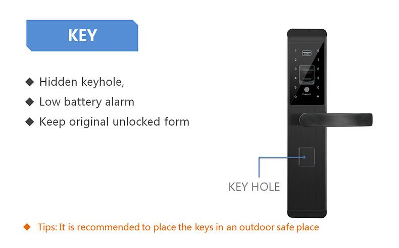 Fingerprint Door Lock Digital Fingerprint Password Key Card 4 in 1 Lock Electronic Smart Door Locks For Home Office (14)