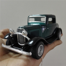KiNSMART Vintage Car Styling Ford 1932 old 3-Window Coupe 1/34 Alloy Diecast Metal Toy Vehicle Model Collection Gift For Boy Kid(China)