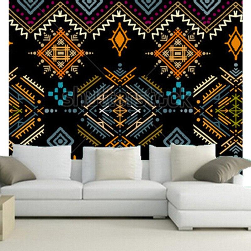 The custom 3D murals, Ethnic boho ornament. Tribal art print, repeatable background,living room sofa TV wall bedroom wall paper<br>