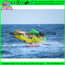 5m Crazy UFO inflatable crazy water game,inflatable island Crazy UFO inflatable flying fish air sofa made in china