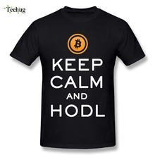 Buy Man's Bitcoin T Shirt Keep Calm Hold Slogan T-shirt 100% Cotton Tee Shirts for $11.66 in AliExpress store