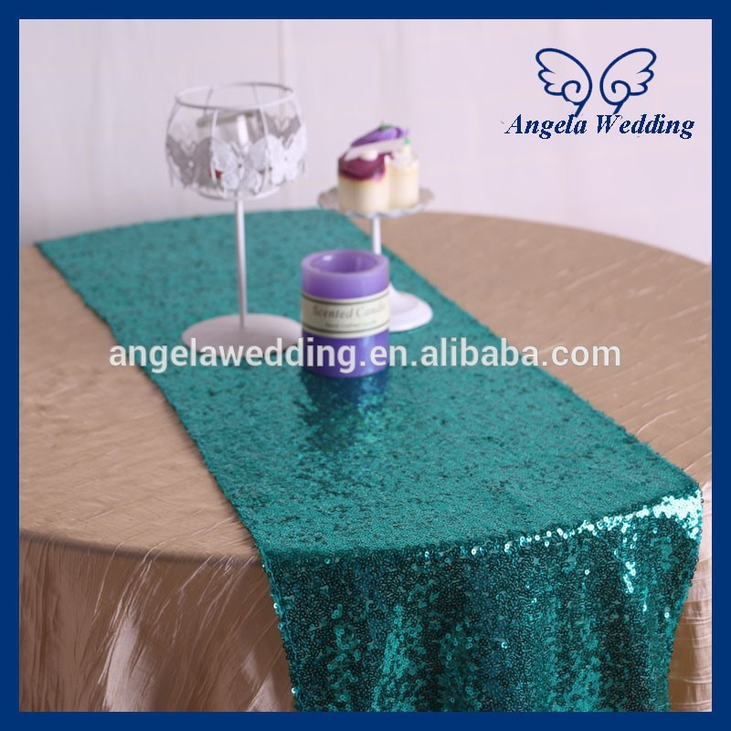 ru002f custom made cheap bead many colors available turquoise sequin table runnerchina
