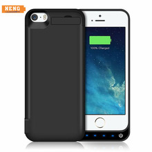 NENG 4200mAh Hot Sale External Rechargeable Battery Wireless Charger Case Power Bank Cover for iPhone 5 5s 5c SE with Stand(China)
