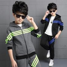 New Boutique Kids Clothing Boys Long Sleeve Casual Outfits Kinderkleding Jongens Two-piece Sets Striped Children' Sports Suit