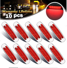 10x Side Marker Clearance Lamp Light for Freightliner Kenworth Trucks 12 LED Car styling