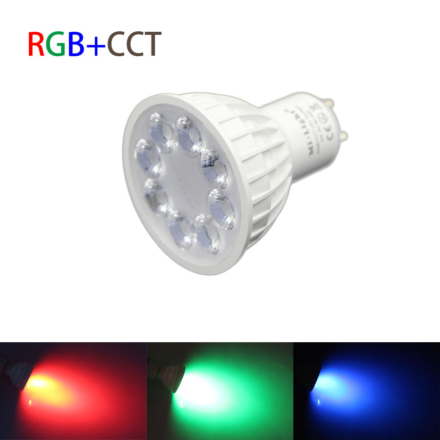 Mi.Light 2.4G Wireless AC 85-265v light bulbs GU10 4W RGBW RGB/WW RGB+CCT RF Led Lamp 5730 SMD Dimmable full color Spotlight <br><br>Aliexpress
