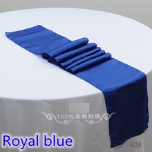 wedding decoration table runner,satin table runner,royal blue colour rectangle table decoration dinner round table runner cheap