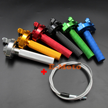 22MM 7/8'' CNC Aluminum Throttle Tube Clamp Twist with Throttle Cable For XR CRF 50 70 100 Pit Bike NEW E-Moto(China)