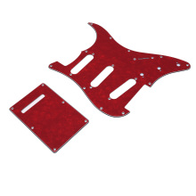 High quality guitar pickguard Brown Tortoise ST/Strat Style Guitar Pick Guard Back Plate fits easy installation