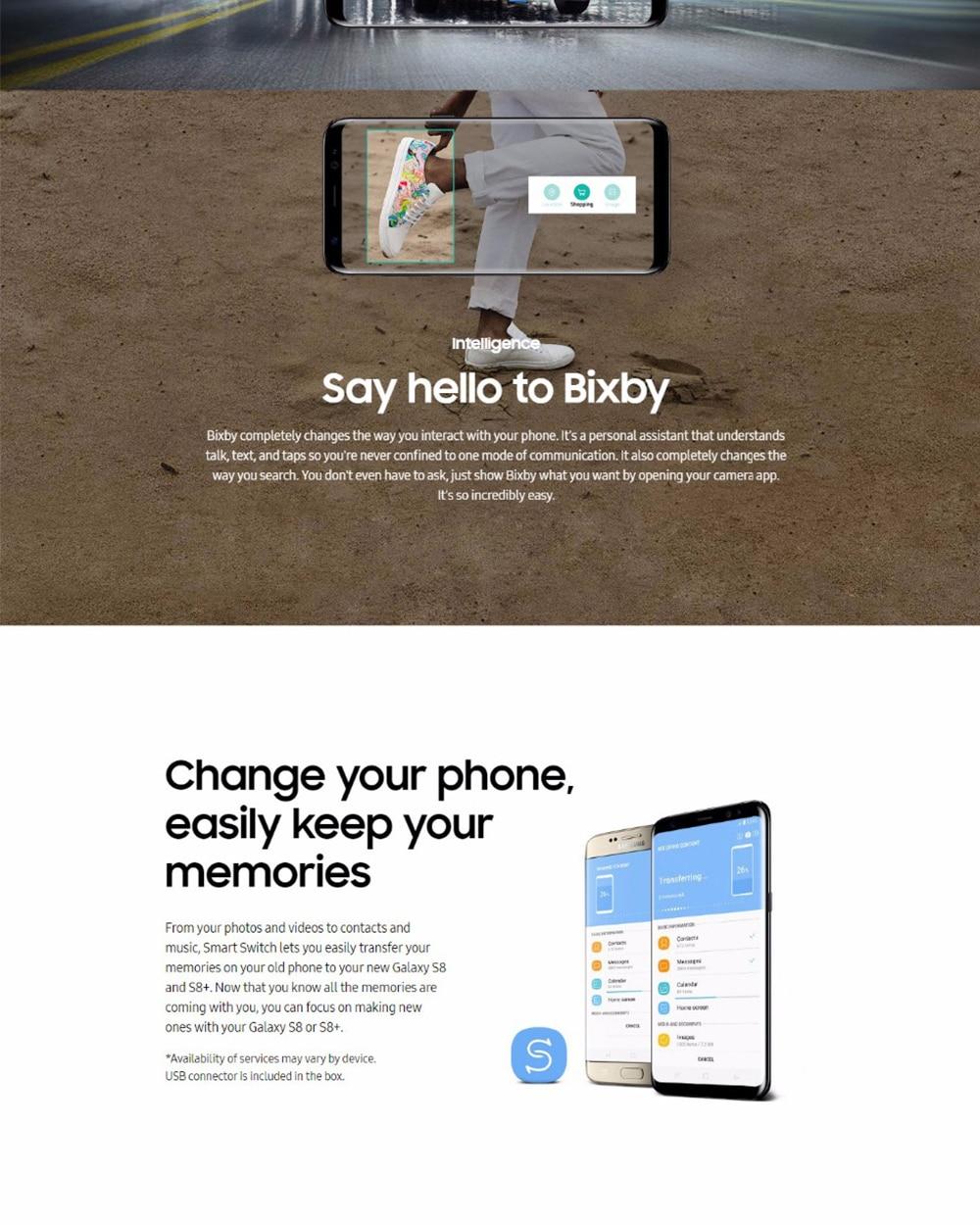 Original Samsung Galaxy S8 5.8inch 4GB RAM 64GB ROM Dual Sim Snapdragon 835 Octa Core Android 7.0 Fingerprint 3000mAh Smartphone