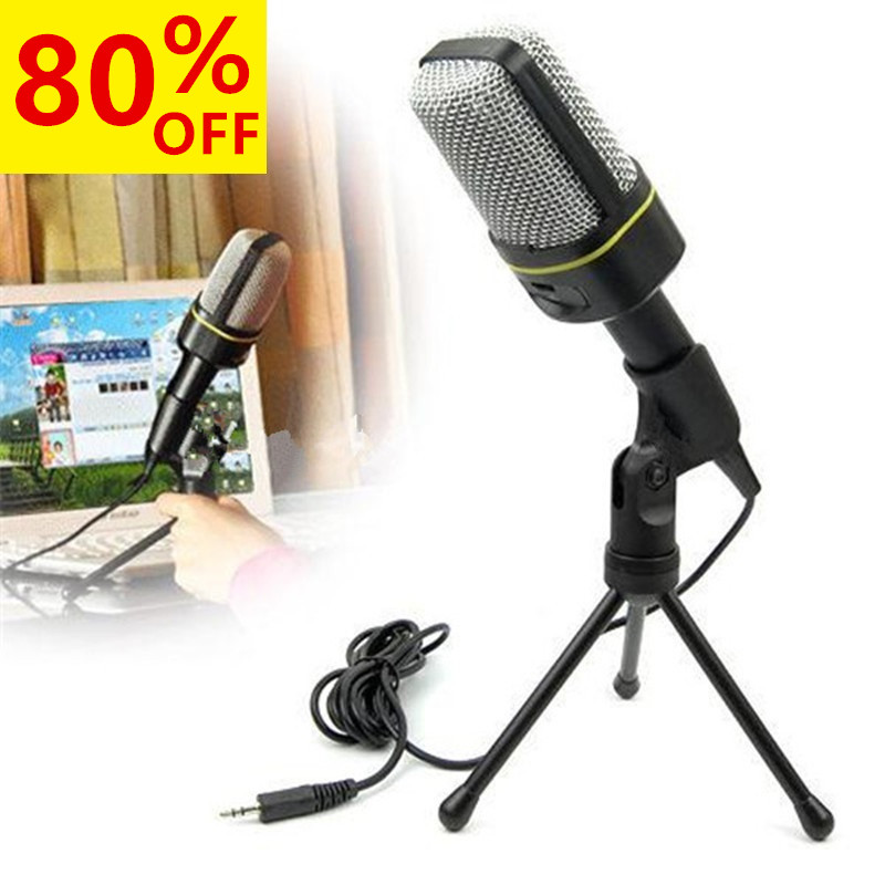 Handheld Condenser Microphone Studio Professional Wired Microphone Holder Clip Mini Desktop Stand Microphone for Computer PC(China (Mainland))