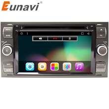 Eunavi Android 6.0 Quad core RAM 2G /1G Car DVD GPS Radio stereo For Ford Mondeo S-max Focus C-MAX Galaxy Fiesta Form Fusion PC(China)