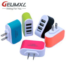 3 usb ports 3A US USA AC home wall charger adapter power plug for iphone 4 5 6 for samsung s3 s4 note 2 3 for htc(China)