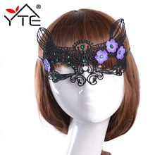 Sexy Halloween Masquerade Lady Lace Mask With Diamond Hollow Sexy Eye Butterfly Mask for Masquerade Home Party Dress Costume