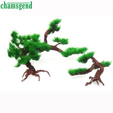 Chamsgend lovely pet hot selling Aquatic Animals Rockery Miniascape Aquarium Artificial Pine Trees Water Plants 0509