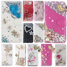 Unique New Style 3D Cute Flip Magnetic case cover For BlackBerry Priv,Diamond Leather Luxury Rhinestone Case(China)
