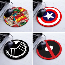 New Design Marvel Comics Painting Mouse Pad Durable Desktop Pad Mousepads Computer Animation Round Mouse Mat Round Mice Pad