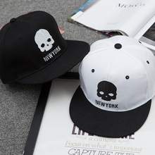 skull hip pop baseball hat black white skeleton couple hat for women man fashion outdoor sun cap ca294