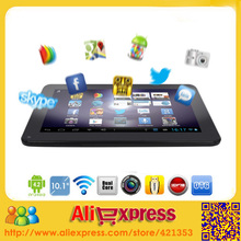 2014 Newest Android 4.4 Cheap 10 inch Tablet PC A33 Quad Core Dual Camera 6000mah Battery 1GB RAM 8GB ROM With Bluetooth