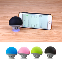 Mini Mushroom Wireless Bluetooth Speaker Waterproof Shower Stereo Subwoofer Music Player W/ Phone holder for iPhone iPad Tablet